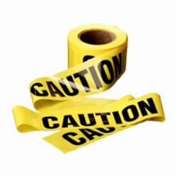 Scotch® 301 Above Ground Barricade Tape, CAUTION, 91.44 m Roll L x 3 in W, Yellow, Polyethylene Film