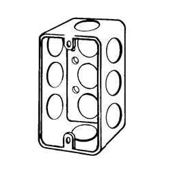 Appleton® 180-1/2 Drawn Handy Box With Knockout, 15 cu-in, 1 Gang, 10 Knockouts, Steel