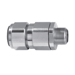 Appleton® 25SPX2KX0755 Straight Cable Gland, 3/4 in, 0.55 - 0.87 in Dia Cable, 0.669 in L Thread, Brass, Nickel Plated