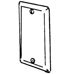Appleton® 2540 Blank Outlet Box Cover, 4 in L x 2-1/8 in W, Steel