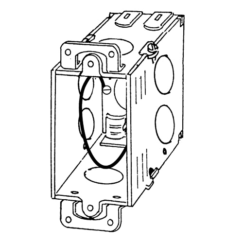 Appleton 384dp Gangable Square Corner Switch Box With Cl 26 Steel