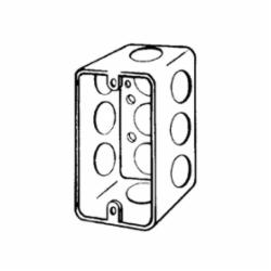 Appleton® 4CS12C Handy Box With Knockout, 13 cu-in, 10 Knockouts, Steel