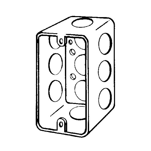 Appleton 4cs 12 4cs Handy Box With Conduit Knockout 13 Cu In 1