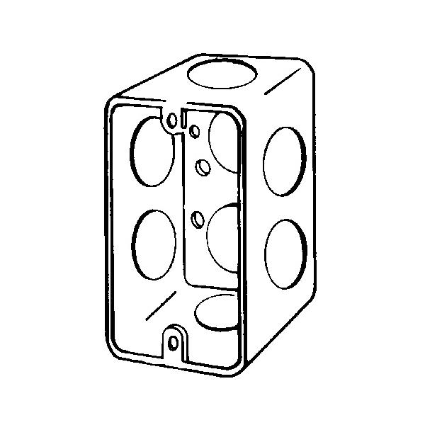 Appleton 4cs 34 4cs Handy Box With Conduit Knockout 13 Cu In 1