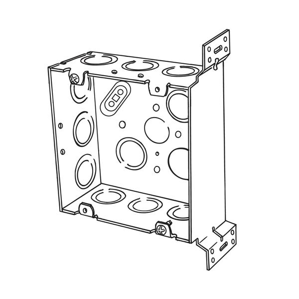 Appleton 4sjd Ek Vb Etp Square Box With Vertical Bracket 42 Cu In
