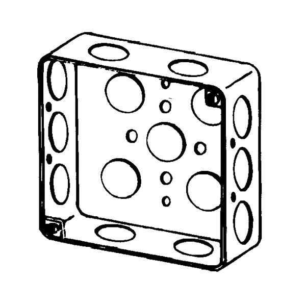 Appleton 4sl 12 Etp Square Box 18 Cu In 15 Outlet 15 Knockout
