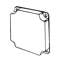 Appozgcomm ETP Square Box Cover, 4 in L x 4 in W x 1-1/2 in D, Steel