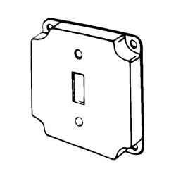 Appozgcomm 8361 Square Box Cover, 4 in L x 4 in W x 1/2 in D, Steel