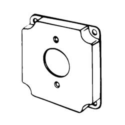 Appozgcomm 8363 Square Box Cover, 4 in L x 4 in W x 1/2 in D, Steel