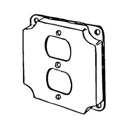 Appozgcomm 8365N Square Box Cover, 4 in L x 4 in W x 1/2 in D, Steel