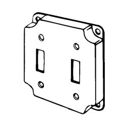 Appozgcomm 8367 Square Box Cover, 4 in L x 4 in W x 1/2 in D, Steel