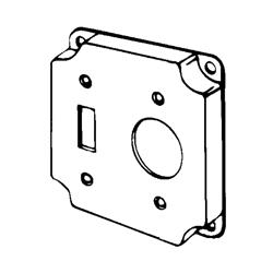 Appozgcomm ETP Square Box Cover, 4 in L x 4 in W x 1/2 in D, Steel