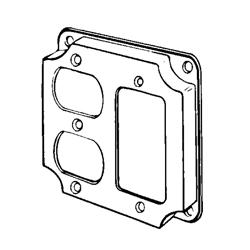Appozgcomm 8373N Square Box Cover, 4 in L x 4 in W x 1/2 in D, Steel