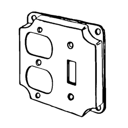 Appozgcomm 8375N Square Box Cover, 4 in L x 4 in W x 1/2 in D, Steel