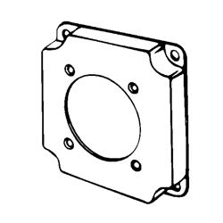 Appozgcomm 8378 Square Box Cover, 4 in L x 4 in W x 1/2 in D, Steel