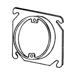 Appozgcomm 8461 Square Box Cover, 4 in L x 4 in W, Steel