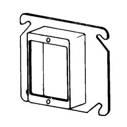 Appozgcomm 8466 Square Box Cover, 4 in L x 4 in W, Steel