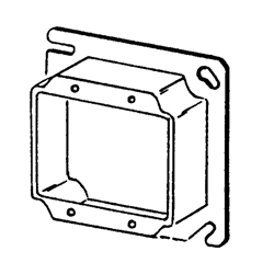 Appozgcomm 8469B Outlet Square Box Cover, 4 in L x 4 in W, Steel