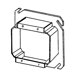 Appozgcomm 847-150 Outlet Tile Square Box Cover, 4 in L x 4 in W x 1-1/2 in D, Steel