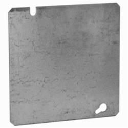 Appozgcomm 8487 Blank Flat Square Box Cover, 4-11/16 in L x 4-11/16 in W, Steel