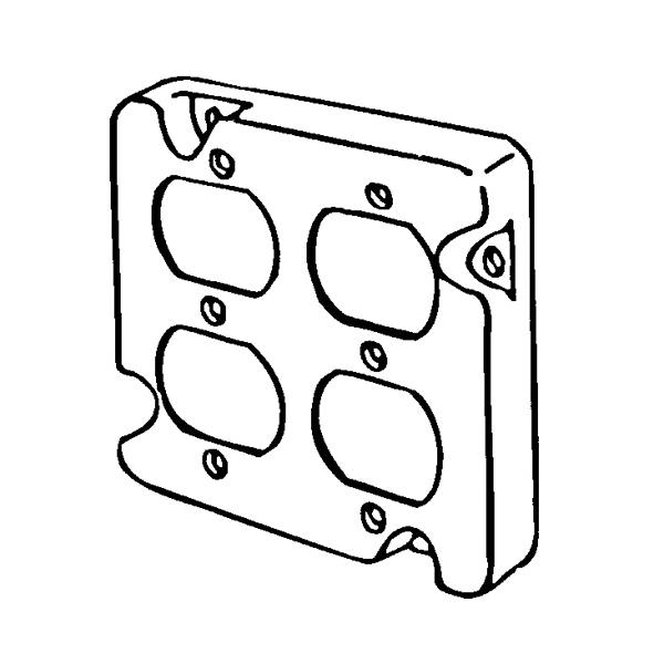 Appleton 8492n Square Box Cover 4 1116 In L X 4 1116 In W X 12