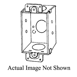 Appozgcomm 94 Corner Non-Gangable Switch Box With Plaster Ears, Steel, 7.5 cu-in, 1 Gang, 3 Knockouts