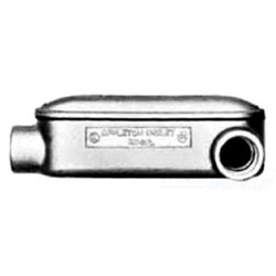 Appleton® BLL100-M Type LL Conduit Body With Assembled Cover and Gasket, 1 in Hub, Mogul, 31 cu-in, Malleable Iron