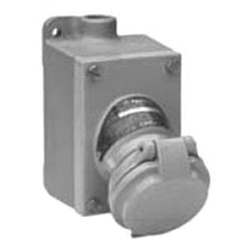 Appleton® Contender® CPS152201 Pin and Sleeve Receptacle Assembly, 250 VAC/18 VDC, 20 A, 3 Poles, 2 Wires