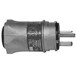 Appleton® ECP-2023 Straight Blade Plug, 125 VAC, 20 A, 3 Poles, 2 Wires