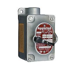 Appleton® Unilet® EDS175-F1 Tumbler Switch, 120/277 VAC, 20 A, 2 hp