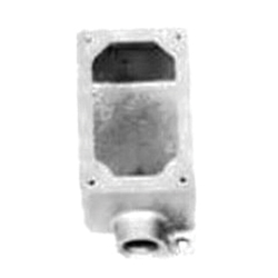 Appleton® EFD175-NL-Q Dead-End Electrical Box With Internal Ground Screw, Malleable Iron, 1 Gangs, 1 Outlets