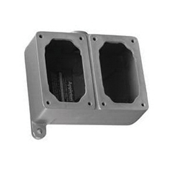 Appleton® EFDC275-NL-Q Feed-Thru Electrical Box With Internal Ground Screw, Malleable Iron, 2 Gangs, 2 Outlets