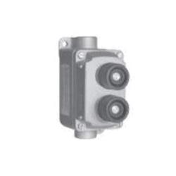 Appleton® EFDB175DU2 Dead End Pushbutton Switch Control Station, 600 VAC, 10 A, 2NO-2NC, 2 Operators