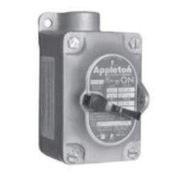 Appleton® EFS150-F3W Dead End Tumbler Switch Control Station, 120/277 VAC, 20 A, 1 Operator, NEMA 7CD/9EFG