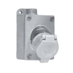 Appleton® Contender® ENR21201 Pin and Sleeve Receptacle Assembly, 125 VAC, 20 A, 3 Poles, 2 Wires