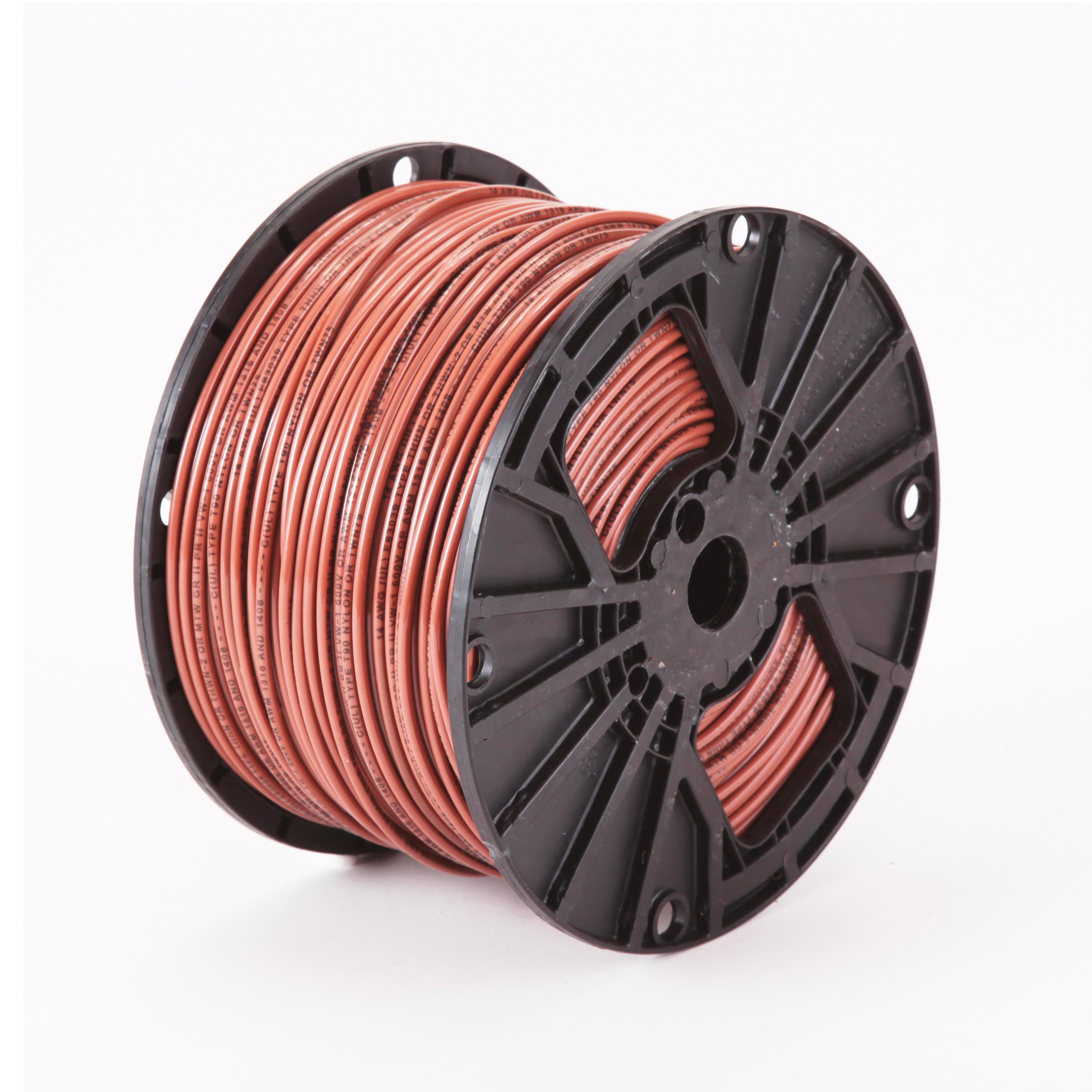 4 Awg Thhn Wire | Thhn 4 Awg Stranded Brown Copper Building Wire 2500 Ft Reel Order By