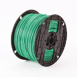 Thhn 6 Awg Stranded Green Copper Building Wire 1000 Ft Reel Order By The Foot 1000 Ft Minimum