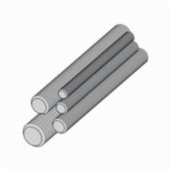 B-LINE ATR-3/8X120SS4 ALL THREADED ROD, 3/8-IN.-16 THREAD, 120-IN. LENGTH, STAINLESS STEEL 304