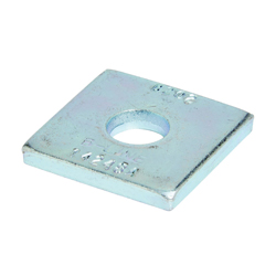 SQUARE WASHER, 7/16-IN. HOLE, 3/8-IN. BOLT, ZINC PLATED