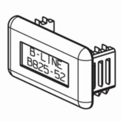 B-LINE B825-22-GRY PLASTIC END CAP, FOR 1 5/8
