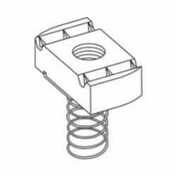 B-Line N228ZN Spring Nut, For Use With B22, B24, B26 and B32 Size Channel, 3/8 in THK, 3/8-16 Thread, Steel