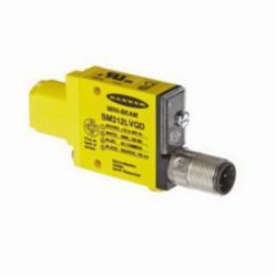 Banner Engineering Maxi-Beam® Photoelectric Sensor, Series: SM312, Rectangle, Retro Reflective Sensing Method, 5 m Sensing Range, Visible Red Sensing Beam, 1 ms Response, Bi-Polar Output, 10/30 VDC, 25 mA, Quick-Disconnect, LED Light Source, 12.2 mm L x 53.3 mm W x 30.7 mm H, NEMA 1/2/3/3S/4/4X/6/12/IP67, -20 to 70 deg C Operating, Environmental Conditions: 90 Percent at 50 deg C
