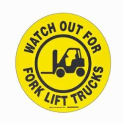 BRADY 104501 17 IN B534FS BK/YL WATCH OUT FOR FORKLIFT
