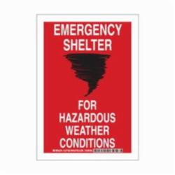 BRADY 127159 B401 10X7 RED/BLK/WHT EMERGENCY SHELTER