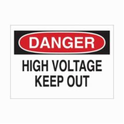 BRADY 22104 ELECTRICAL HAZARD SIGN
