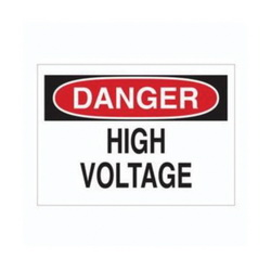 BRADY 84877 DANGER HIGH-VOLT SIGN