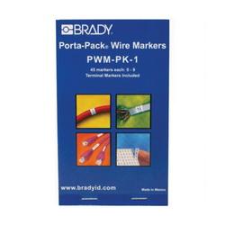 BRADY PWM-PK-1 WIRE MRKR PORTA-PK 0-9