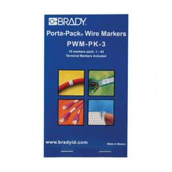 BRADY PWM-PK-3 WIRE MRKR PORTA-PK 1-45