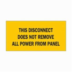 BRADY 88320 DISCONNECT SIGN