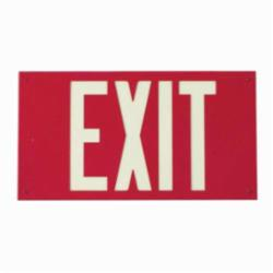 BRADY 90885 PHOTOLUM EXIT SIGN WALL MOUNTED RED